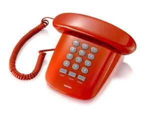 Brondi Sirio Analoges Telefon Rot