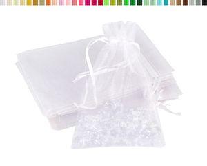 Organzasäckchen 10x15cm, 10 Stück, Farbauswahl:weiß 029