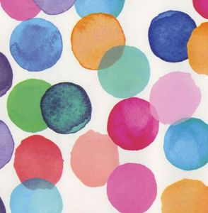 Klebefolie - Möbelfolie Julia bunte Punkte DOTS  -  45 cm x 200 cm Nachbildungfolie