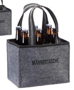 """Flaschenträger """" Männertasche """" für 6 Flaschen Bierträger Flaschentasche"""