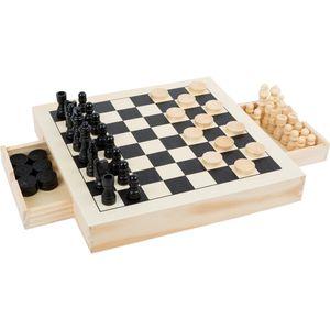 Small Foot 11208 Spiele-Set Schach, Dame & Mühle (1 Set)