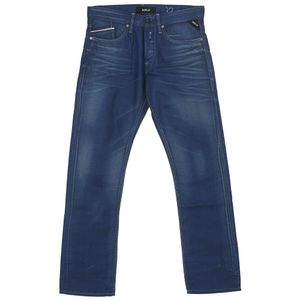 21838 Replay, Waitom,  Herren Jeans Hose, Denim Resinplus, blue, W 31 L 32