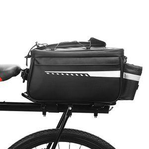 Fahrradgepäckträgertaschen Wasserdichte Wasserdichte Fahrradtasche Fahrradrücksitztaschen Isoliertasche schwarz mit Reflexstreifen