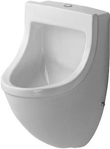 Duravit Urinal STARCK 3 330 x 350 mm, Zulauf von oben ohne Fliege HygieneGlaze weiß