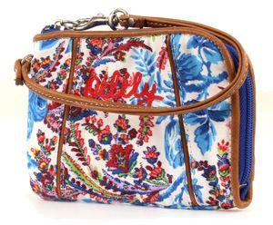 Oilily Wrist Wallet Geldbörse Geldbeutel Dutch Flower Blau Blue
