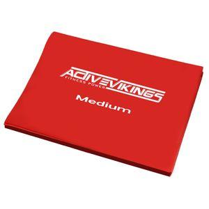 ActiveVikings® Fitnessband 2 meter   Ideal für Muskelaufbau Physiotherapie Pilates Yoga Gymnastik   Fitnessband Gymnastikband Widerstandsband ( Mittel )
