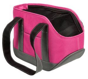 hundetragetasche Alea 30 x 16 cm Polyester/PVC rosa/grau