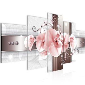 Blumen Orchidee BILD :200x100 cm − FOTOGRAFIE AUF VLIES LEINWANDBILD XXL DEKORATION WANDBILDER MODERN KUNSTDRUCK MEHRTEILIG 008351b