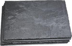 Schieferplatten im 6er Sparset 30x20cm   schwarz Kanten und Oberfläche gespalten