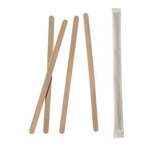 10000 Rührstäbchen, Holz  pure  17,8 cm einzeln gehüllt