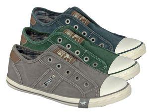MUSTANG Damen Low Sneaker Blau Schuhe, Größe:38