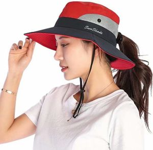 Sonnenhut Damen UV Schutz Hut Faltbar Wanderhut Gartenhut Boonie Fischerhut