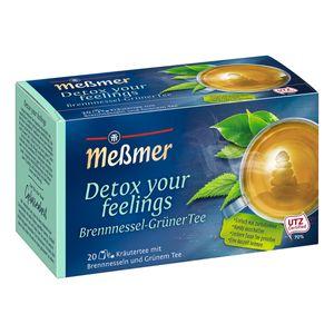 Meßmer Detox Kräutertee mit Brennnesseln und Grünem Tee intensiv 40g