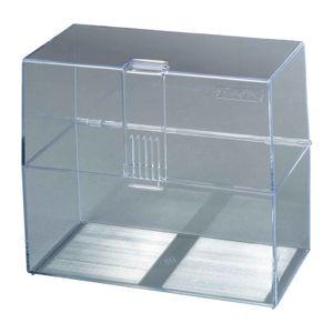 Herlitz Karteikasten / Lernbox / DIN A6 / transparent