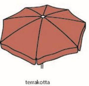 Best Sonnenschirm Großschirm Ibiza 400cm/8-tlg. terrakotta; 8410063