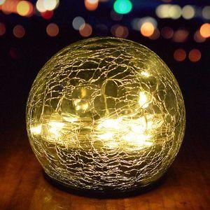 Solar Glaskugel 2er Set LED Kugel Leuchte Solarleuchte Gartenleuchte Glaskugel Warmweiß