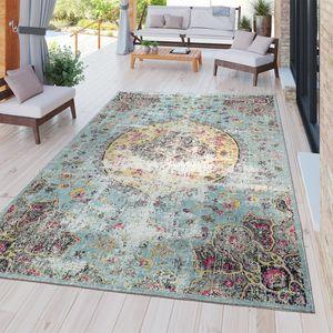 Moderner Outdoor Teppich Wetterfest für Innen & Außenbereich Boho Style In Multifarben, Größe:60x100 cm
