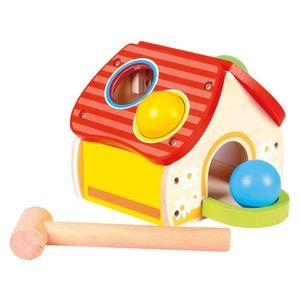 Bino 84199 - Klopfhaus, Spielzeug, natur/bunt 4019359841994
