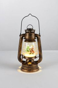 LED-Petroleumlampe Schneekugel mit Beleuchtung Weihnachtsmann