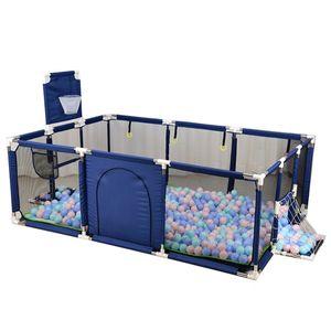 Groß Laufgitter Laufstall Baby Absperrgitter Krabbelgitter Spielstall Spielstall blue