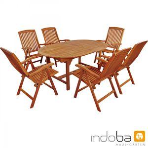 Indoba®  Gartenmöbel Set 7-teilig Sun Flair Gartenmöbel Holz Garnitur