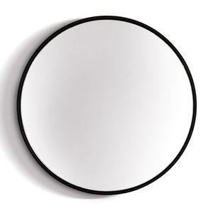 Elegance by Casa Chic Schwarzer Wandspiegel aus Metall - Rund 58,5 cm Durchmesser