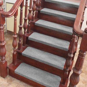 15er set Stufenmatten Treppenmatten Treppenteppich 65x25cm grau-OV