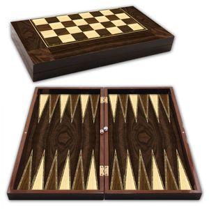 Backgammon Star Polyester Walnuss Tavla