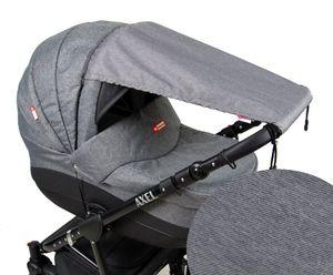 BABYLUX Sonnenschutz SONNENSEGEL für Kinderwagen Buggy UV Schutz 54. Dunkel Grau