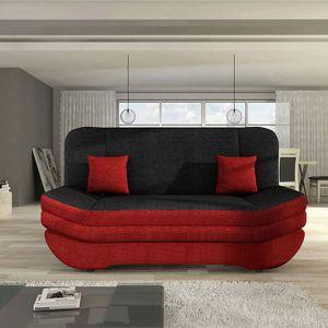 Mirjan24 Schlafsofa Weronika, Polstersofa mit Bettkasten, Stilvoll Couch (Lux 14 + Lux 08 + Lux 14)