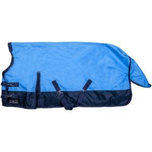 HKM Highneckdecke -Sherbrooke- 1200D mit Polarfleece, Farbe:6469 babyblau/dunkelblau, Größe:145