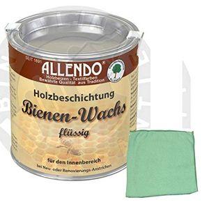 Holzwachs Bienenwachs flüssig 750 ml Dose Farbe: natur inkl. Microfasertuch (100% Polyester) (100% Polyester)