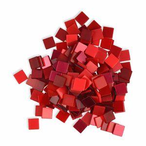 Creleo - Mosaiksteine 10x10mm rot 190 Stück 45 g