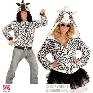 Zebra Jacke mit Kapuze
