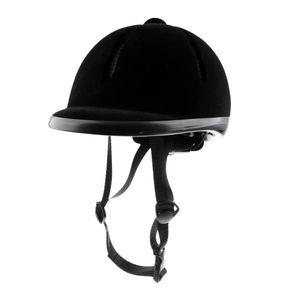 Reithelm Verstellbar Helm Schwarz