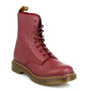 Dr. Martens Pascal Damen Echtleder Stiefel Rot Schuhe, Größe:39