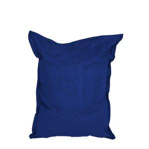 Lumaland Luxury Riesensitzsack XXL Microvelours Sitzsack 380l Füllung 140 x 180 cm Indoor Royal Blau