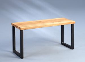 Sitzbank Gabriel 2 in braun - Holz, 80 x 30 x 40 cm