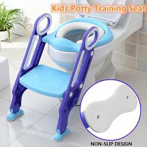 Toilettentrainer WC Sitz Töpfchentrainer Toilette mit Treppe Trittleiter Kinder