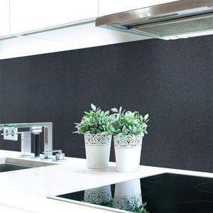 Küchenrückwand Graphit Schwarz Premium Hart-PVC 0,4 mm selbstklebend - Direkt auf die Fliesen, Größe:340 x 60 cm