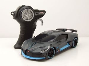 RC Bugatti Divo 2018 grau blau mit 24 GHz Funkfernbedienung Modellauto 1:24 Maisto