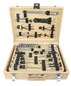 Bambus-Werkzeugkoffer, 108-tlg.
