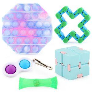 5 Stück / Set Sensory Fidget Toys Pop it für Kinder und Erwachsene, lindert Stress und Angst Zappeln Spielzeug
