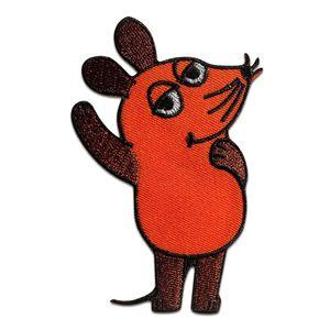 Maus Sendung mit der Maus Kinder - Aufnäher, Bügelbild, Aufbügler, Applikationen, Patches, Flicken, zum aufbügeln, Größe: 9 x 5,5 cm