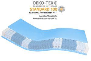 AM Qualitätsmatratzen | Premium 7-Zonen Taschenfederkernmatratze | 140x220 cm | H3 | Tonnentaschenfederkernmatratze | 140/220 | Federkernmatratze | Härtegrad H3 | 7 Zonen | 24 cm Höhe