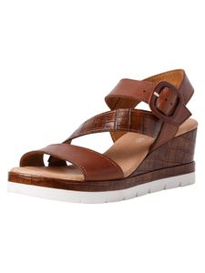 Jana Damen Sandale braun 8-8-28310-26 H-Weite Größe: 41 EU