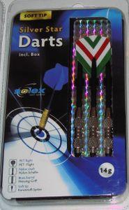 Solex Soft&Eletronic Dart Set, 14G, Silver Star Dartpfeile