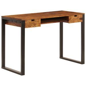 dereoir Schreibtisch 110 x 55 x 78 cm Massivholz und Stahl