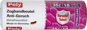 Pely Zugbandbeutel Müllbeutel Anti Geruchs Formel 35Liter 18 Stück