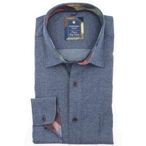 Redmond Flanellhemd Übergröße jeansblau, Größe:5XL